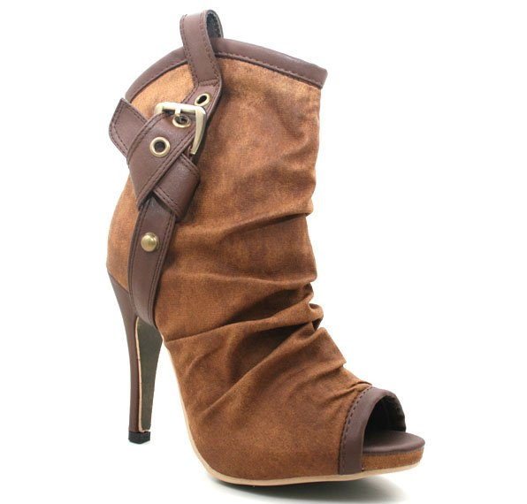 zhoezzy.com Army / Cowboy Buckled Ankle Boot