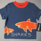 OshKosh B'Gosh Baby Blue Shark Tee - size 12m