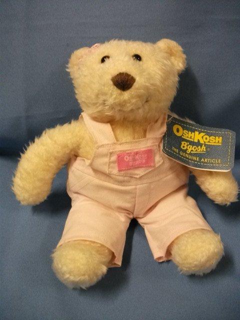 "OshKosh B'gosh Coverall Bear - Pink Girl 10"" Eden Toys"