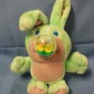"Nosy Bears 8"" Rabbit Mint Green & Purple - Tisket - Ducks Waterball Bunny 1987"