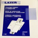 Halo Lazer Track Lighting Floating Canopy & Connector - White - Set of 3