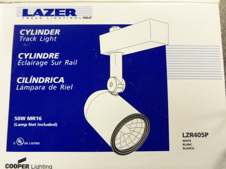 & Halo Lazer Track Lighting Cylinder Track Light - White - Set of 13
