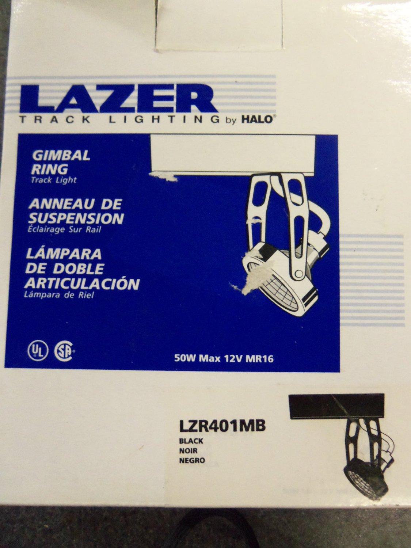 huge selection of 6771e b6491 Halo Lazer Track Lighting Gimbal Ring Track Light - Black ...