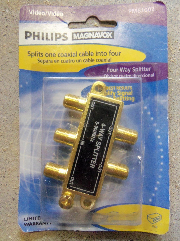 Philips Magnavox Four Way Video Splitter