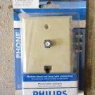Philips Magnavox Coax & Phone Wall Plate