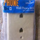 Leviton Double Wall Phone Jacks - Almond