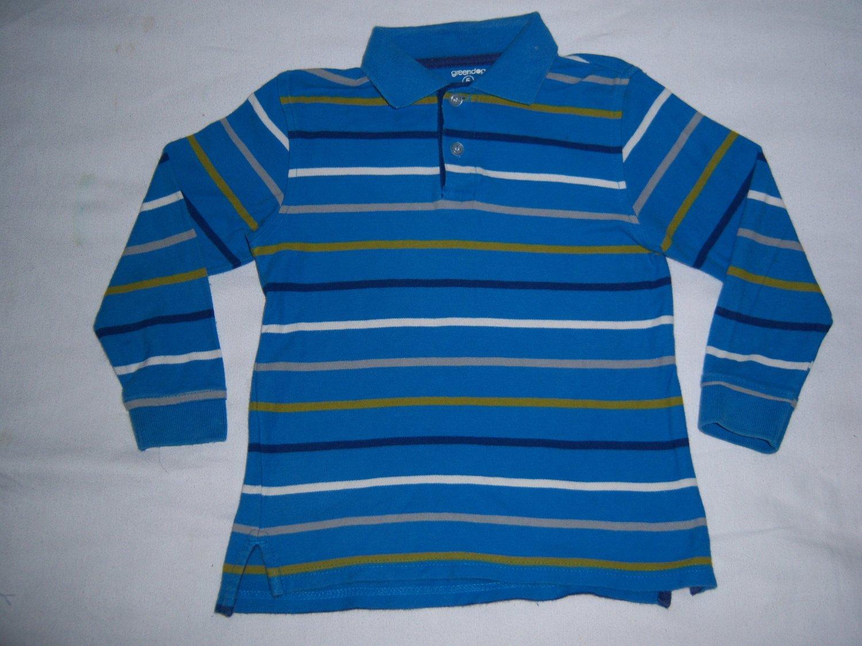 GREENDOG LITTLE BOYS BLUE STRIPED SHIRT SIZE 5