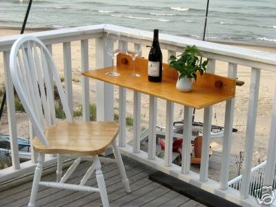Wood Hanging Table and Chairs