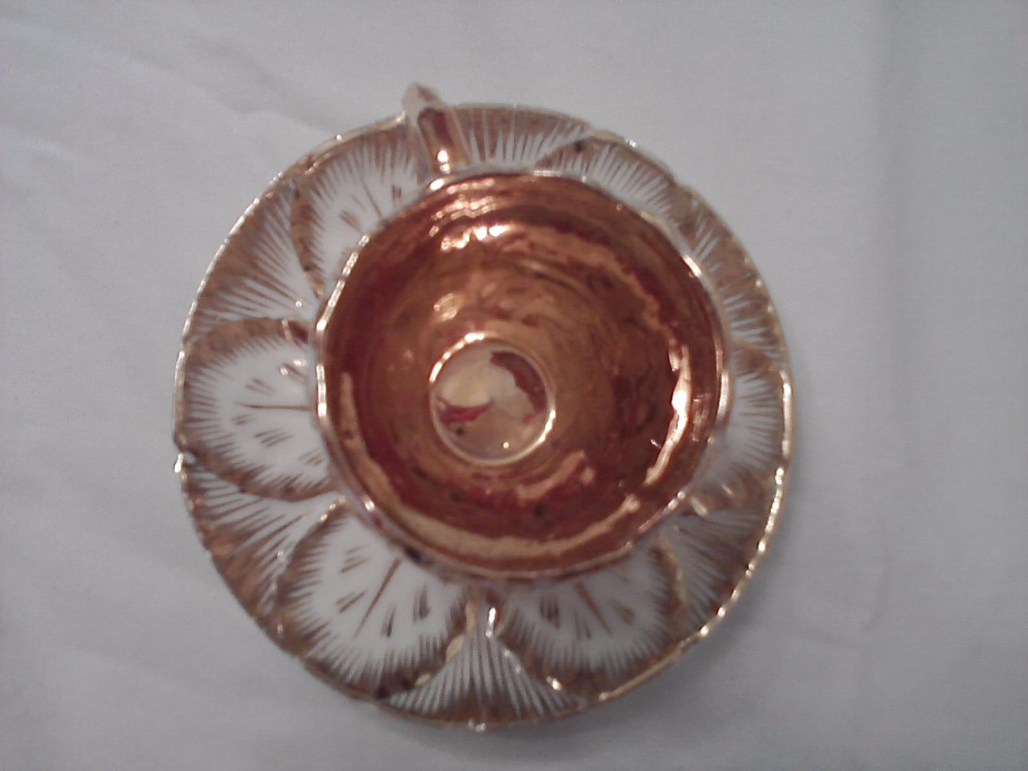 Absolutely Gorgeous Antique Gold encrusted Teacup and Saucer