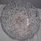 Brilliant Imperial Sawtooth Cut Glass bowl