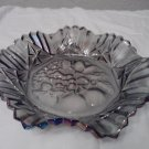Sawtooth Tulip edged Carnival Glass bowl
