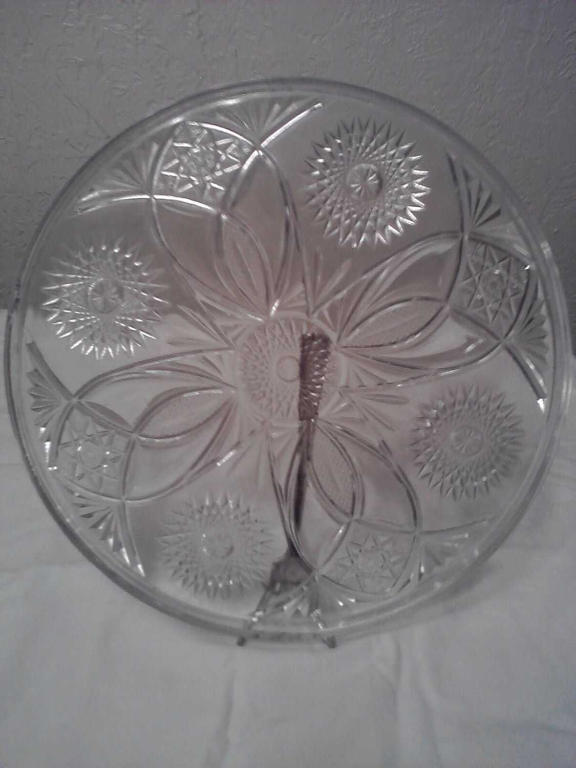 Cut Glass Serving Tray