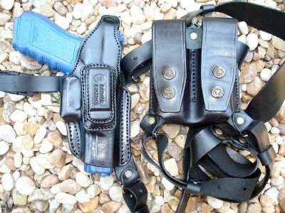 Leather Multi-Function Shoulder Holster for SPRINGFIELD XD9 40, XDM45