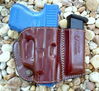 Gazelle Belt Slide Holster with Attached Mag Magazine Pouch for GLOCK 17 19 26 34 and More