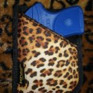 Leopard Animal Print Pocket or Purse Holster for RUGER LCP 380, S&W BODYGUARD 380