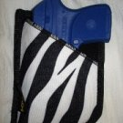 Zebra Animal Print Pocket or Purse Holster for RUGER LCP 380, S&W BODYGUARD 380