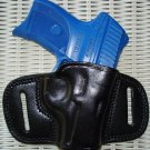 BLACK LEATHER RIGHT HAND BELT SLIDE QUICK DRAW HOLSTER for RUGER LC9