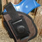 RUGER LC9 w/ LASER SUEDE LEATHER BELT CLIP HOLSTER w/ MAGAZINE POUCH RH/LH