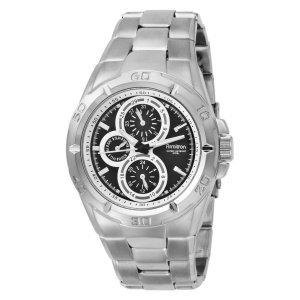 Closeout Armitron Men's 204559BKSV Silver-Tone Stainless Steel Multi-Function Dress Watch