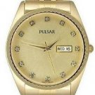 Pulsar by Seiko Men's Gold R*lex Style Dress Watch (PXH286)