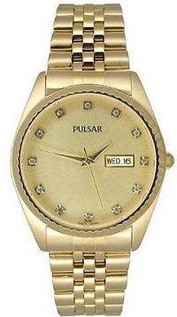 Pulsar by Seiko Men's Gold R*lex Style Dress Watch (PXH286)