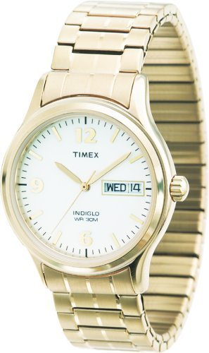 Timex Men's T26451 Classic Gold-Tone Expansion Band Stainless Steel Bracelet Watch