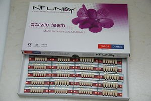 Dental NT-UNAY Acrylic Teeth Dentures Set  ,10 *  full mouth sets  Free Shipping