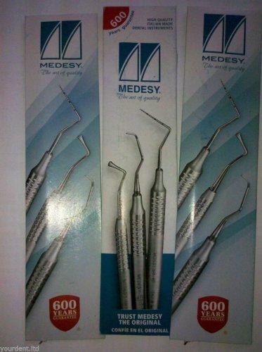 Dental Three Burnishers Octagonal Handle 536/1 by Medesy  FREE SHIPPING