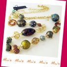 Miu's Necklace Fashionable Easy to Match Assorted Bead Long Necklace (zz.1)