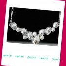 Rhodium Plated Sparkling Always Match 43cm Collar Necklace (zz.103)