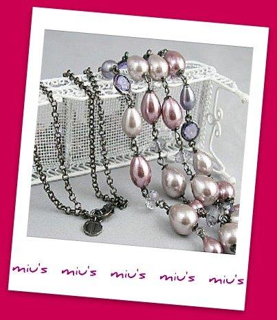 Double Strand Feminine Faux Pearl 80cm Long Necklace (zz.116)