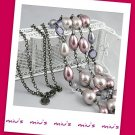 Double Strand Feminine Faux Pearl 80cm Long Necklace (zz.116)