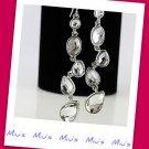Rhodium Plating Sparkling Always Match 7.5cm Drop Earrings (ref zz.104)
