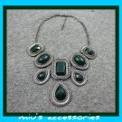 Miu's Faux Emerald Chunky 38cm Collar Necklace (mis.9)
