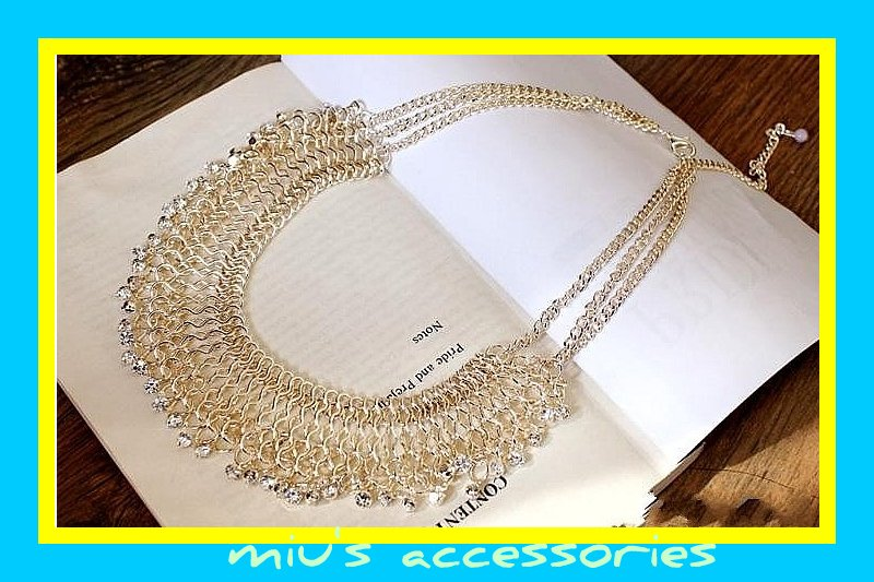 Miu's Rhinestone Water Drop Style Collar Necklace (mis.10)