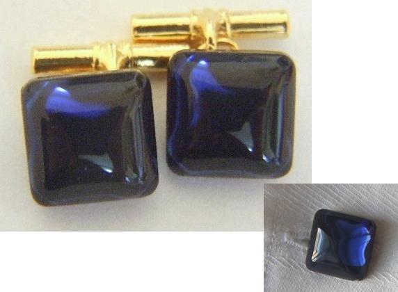 Vintage Montana Blue Glass Cufflinks