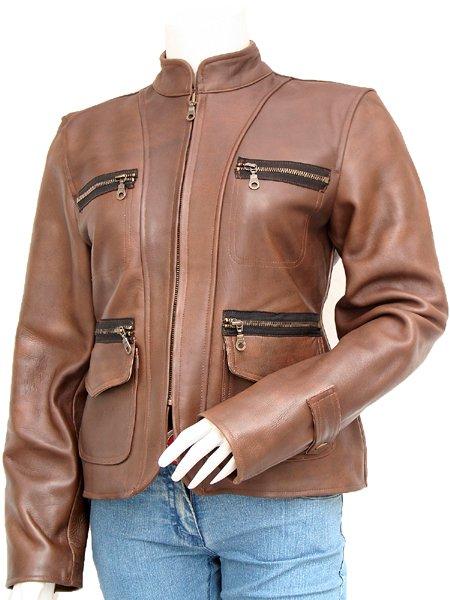 Brown Vintage Leather Jacket Women's - Dulce