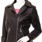 Soft Women's Brown Leather Jacket -Yagamia