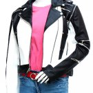 Michael Jackson Black & White WOMEN'S Pepsi Leather Jacket