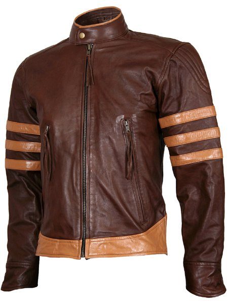 Wolverine Origins Biker Brown Vintage X-Men Leather Jacket