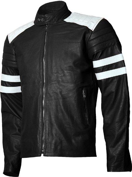 Fight Club FC Tyler Durden Black Brad Pitt Leather Jacket