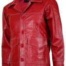 FC Original Red Fight Club Leather Jacket