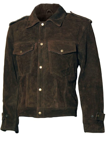 Rubber Soul Brown Suede Beatles John Lennon Leather Jacket