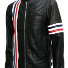 Captain America Biker Black Easy Rider Leather Jacket