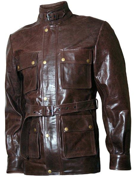 Brad Pitt Biker Button Curious Case of Benjamin Leather Jacket