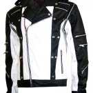 MJ Pepsi Black & White Michael Jackson Leather Jacket