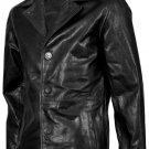 Beautiful Black Leather Blazer Men's - Udit