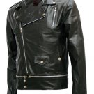 Fascinating Black Leather Jacket Men's - Saloman
