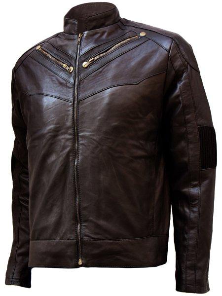 Soft Men's Brown Leather Jacket - Sabola