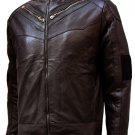 Soft Men's Brown Leather Jacket - Sabola